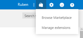 Open the VSTS marketplace