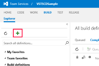 Creating new VSTS build definition