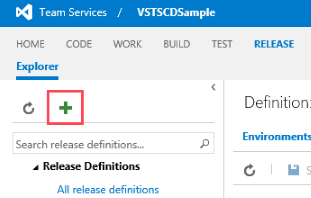 Creating new VSTS release definition