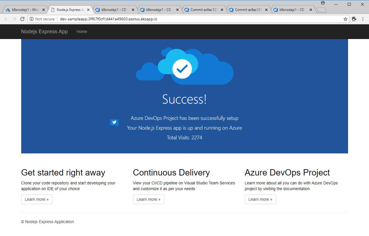 Tip 169 - Part 2 - A quick tour around Azure DevOps Projects
