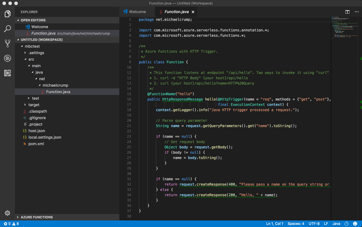 Tip 61 - Java in Azure Function with VS Code | Azure Tips and Tricks