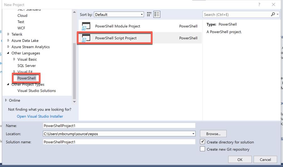 Tip 120 - Run Azure PowerShell Cmdlets in Visual Studio 2017 | Azure