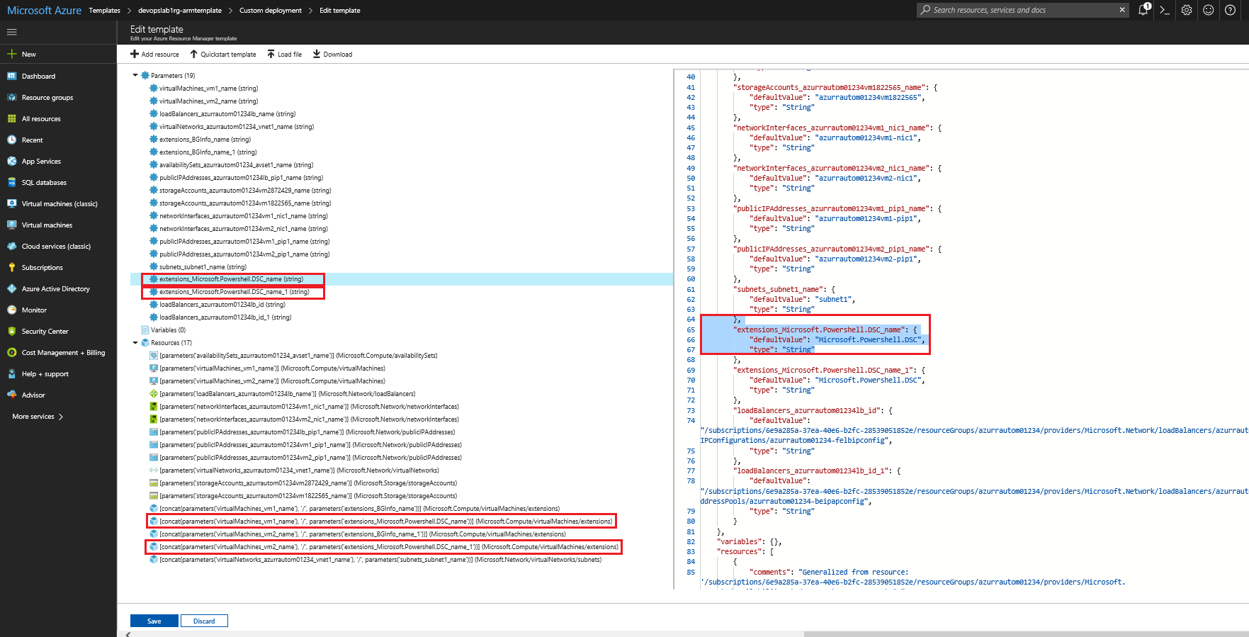 PartsUnlimited : Deploy and Configure Azure Resources with ARM Templates