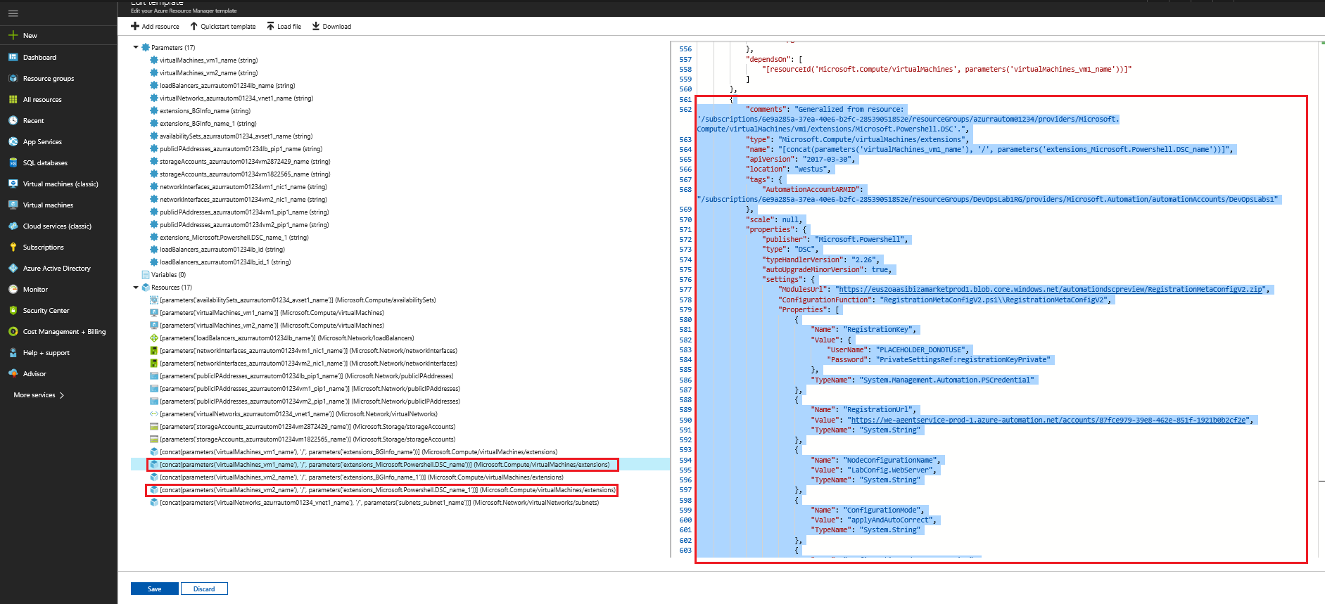 PartsUnlimited : Deploy and Configure Azure Resources with