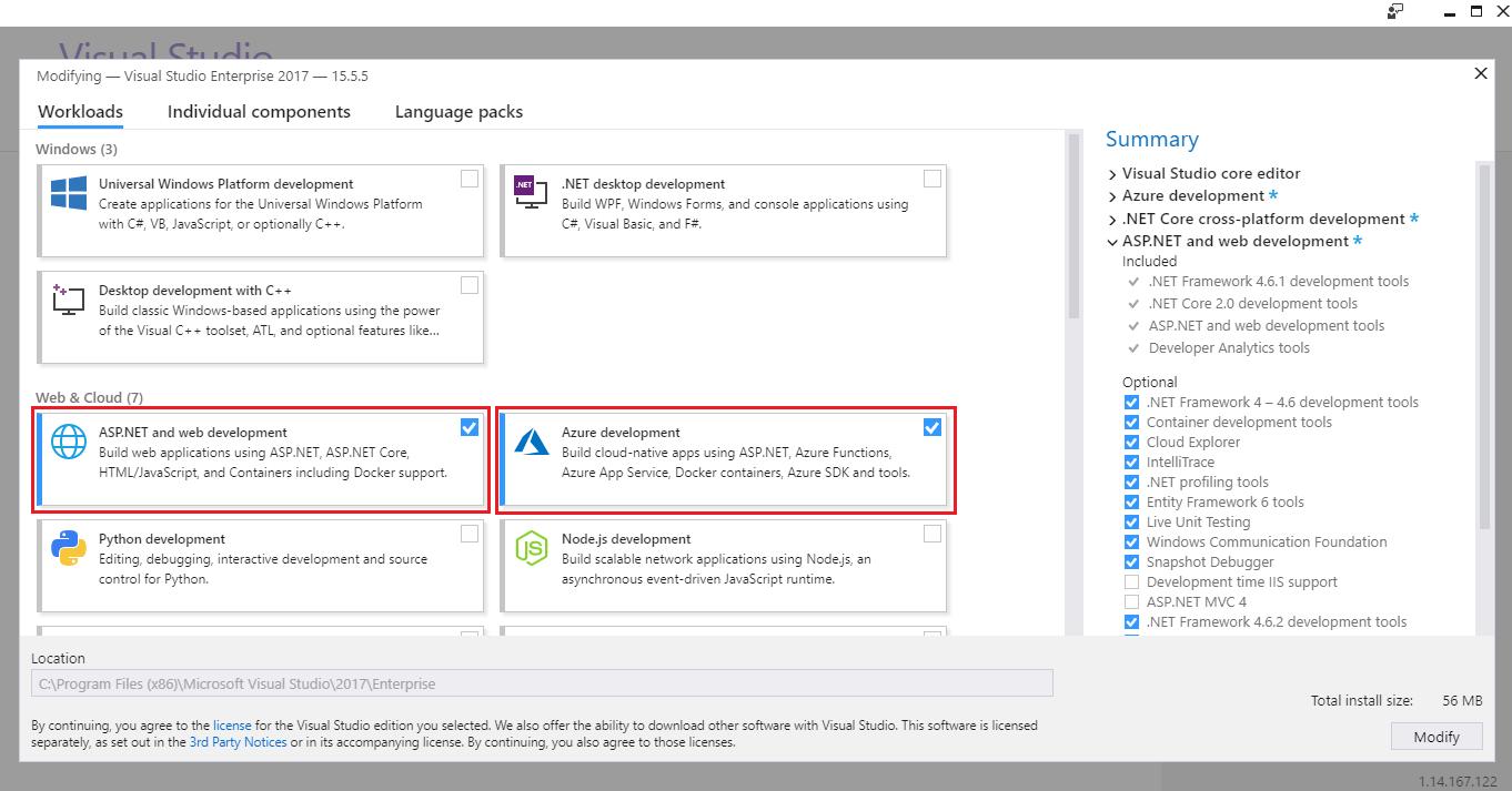 PartsUnlimited : Deploy Application to Azure App Services