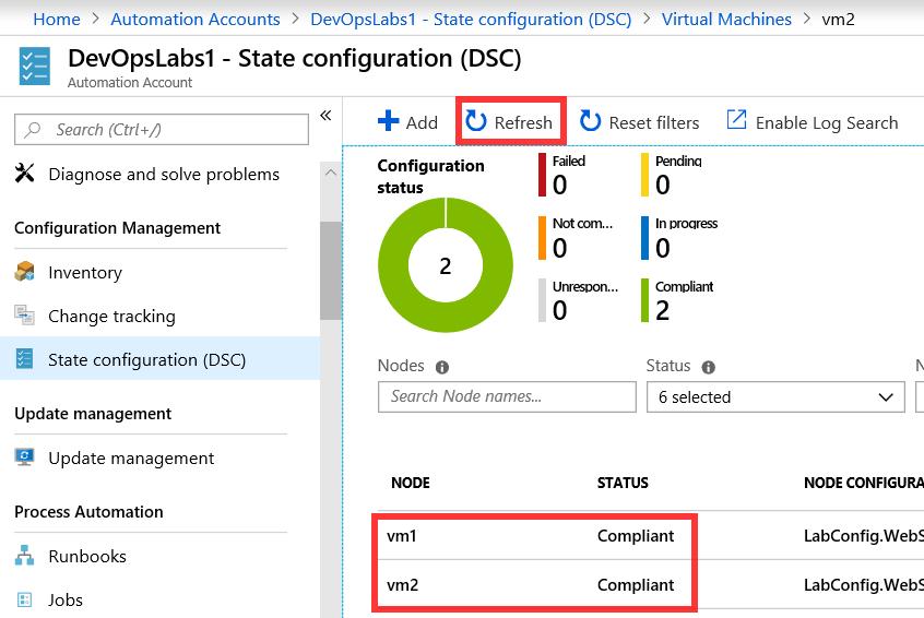 PartsUnlimited : Azure Automation with DSC
