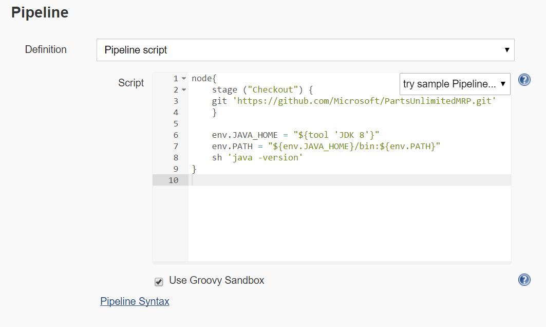 PartsUnlimitedMRP : Continuous Integration with Jenkins