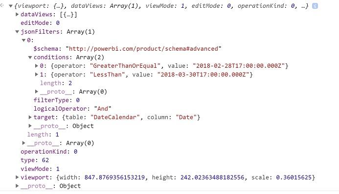 Filter API · PowerBI Custom Visuals