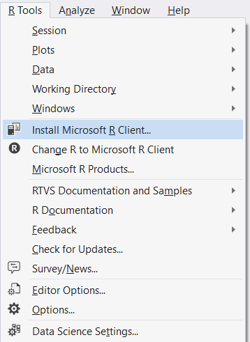 What's new in R Tools for Visual Studio 0 4 (June, 2016