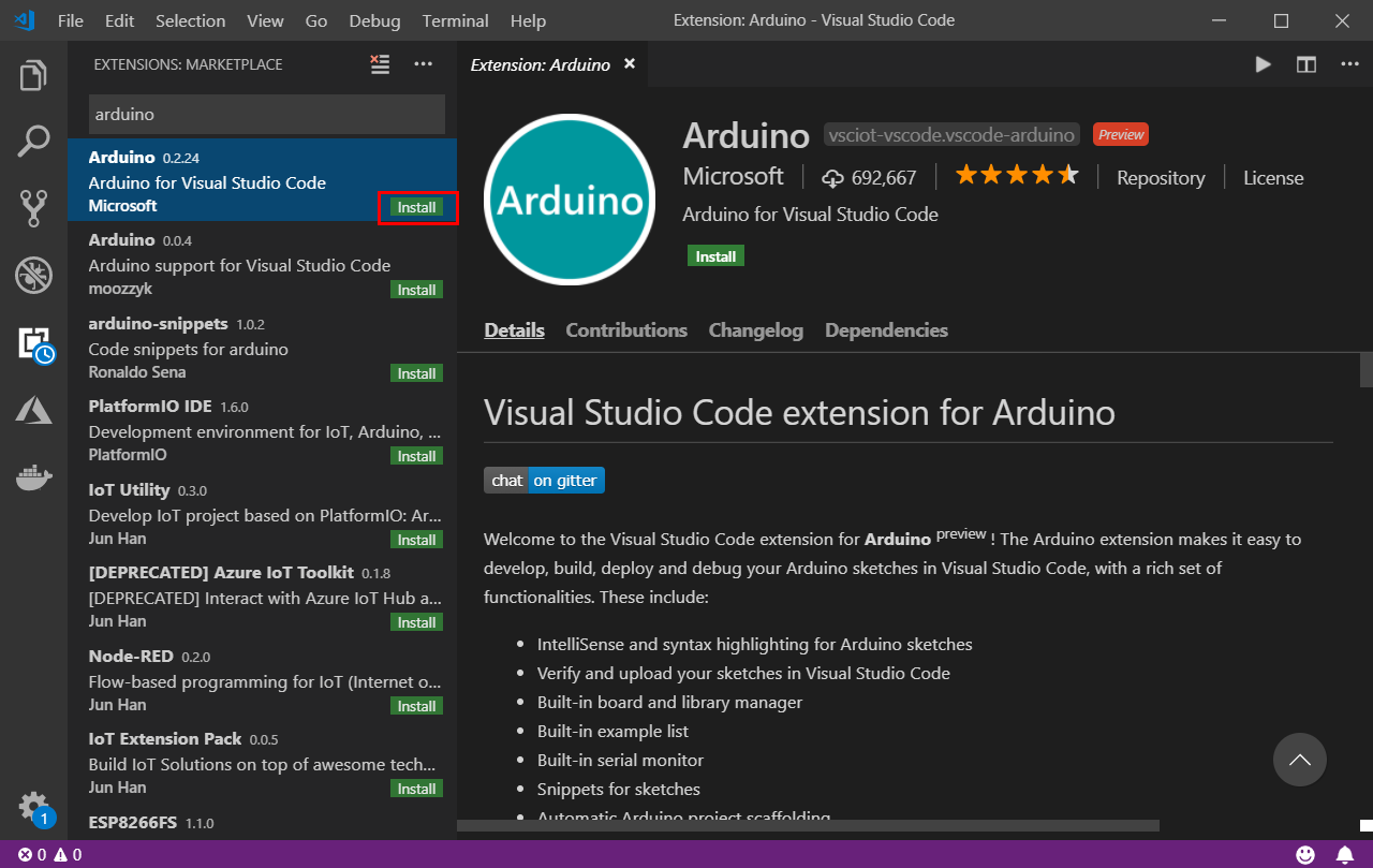 Install Arduino