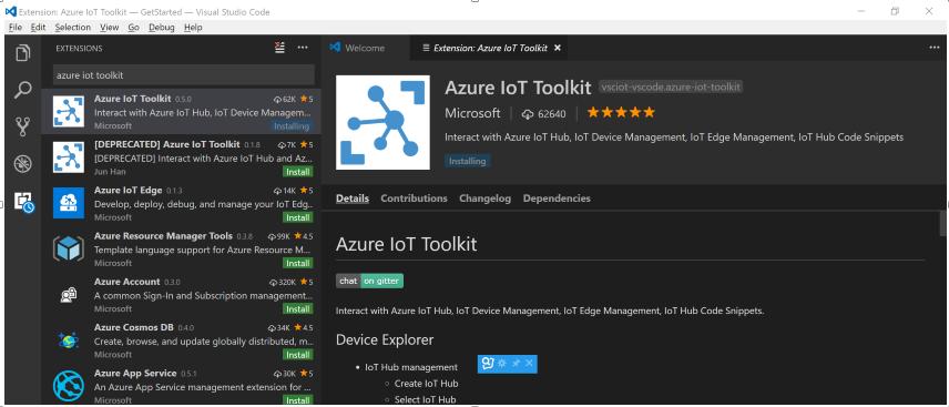 azure-iot-toolkit-installing