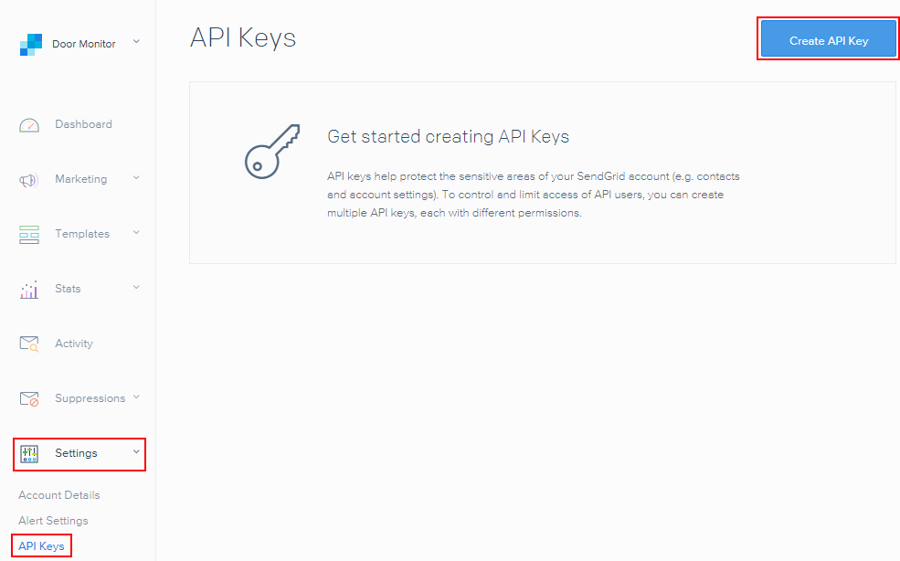 SendGrid Create API First