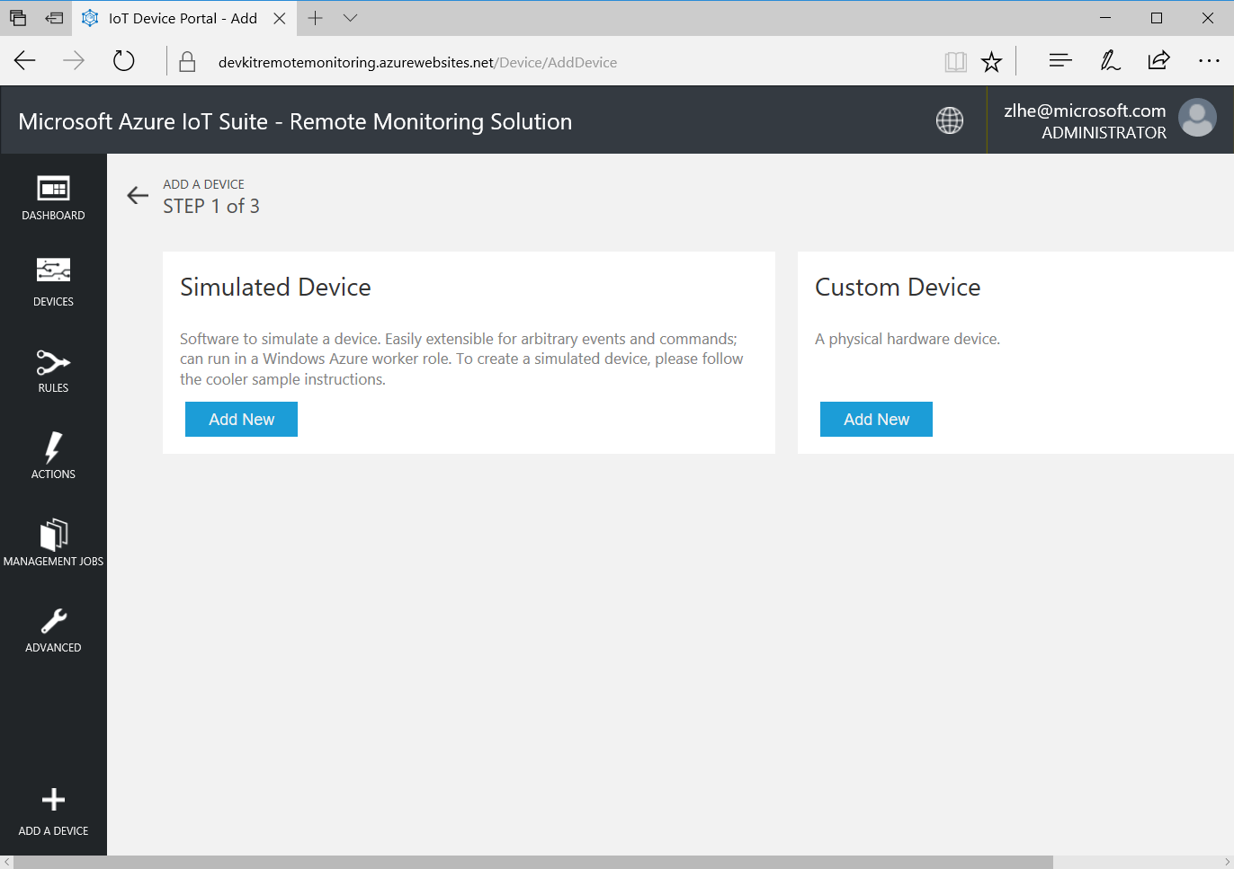 remote-monitoring-azure-iot-suite-add-new-device
