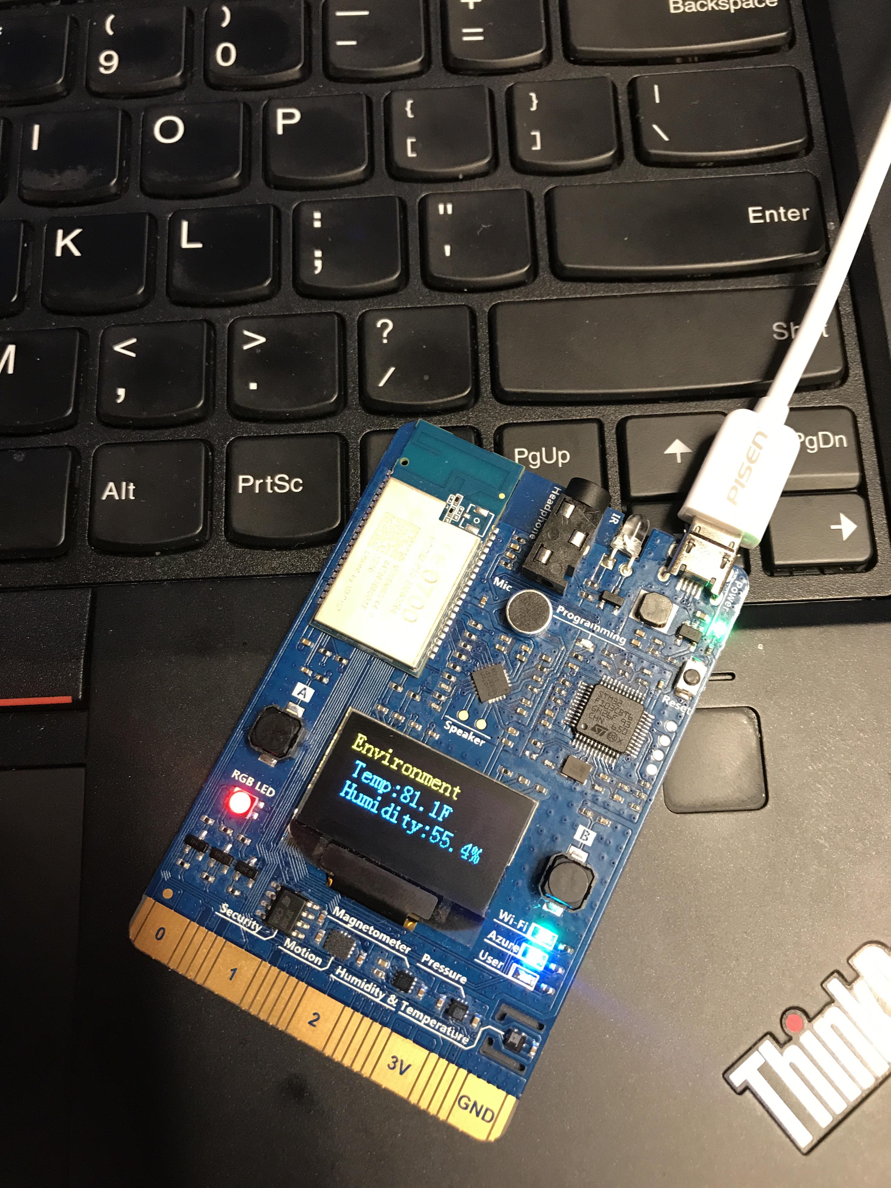 Send sensor data