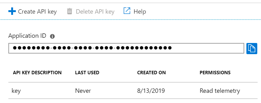 Screenshot highlighting the Application ID of an Application Insights resource