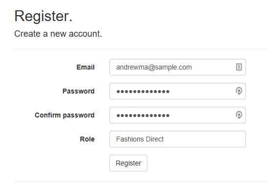 Register and Log in