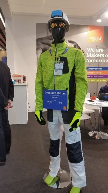 Final device on a mannequin during MWC 2017