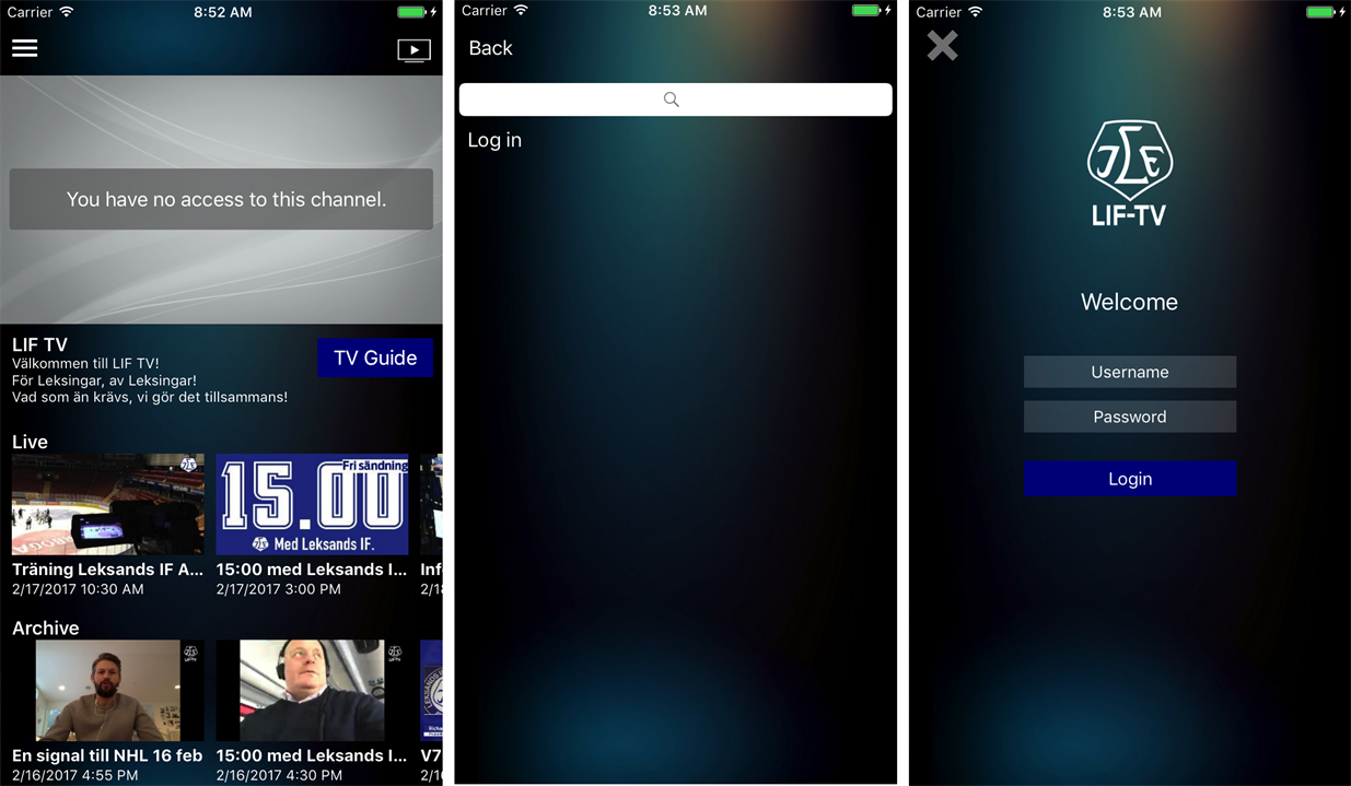 Building white-labeled LiveArena video-streaming apps for mobile and