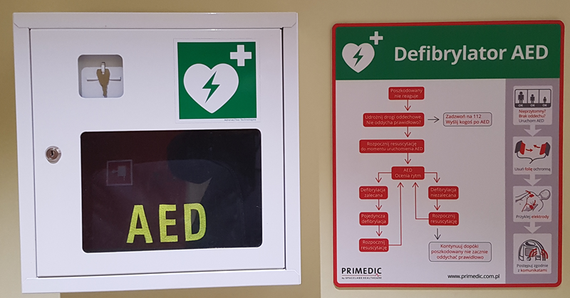 Sample AED device