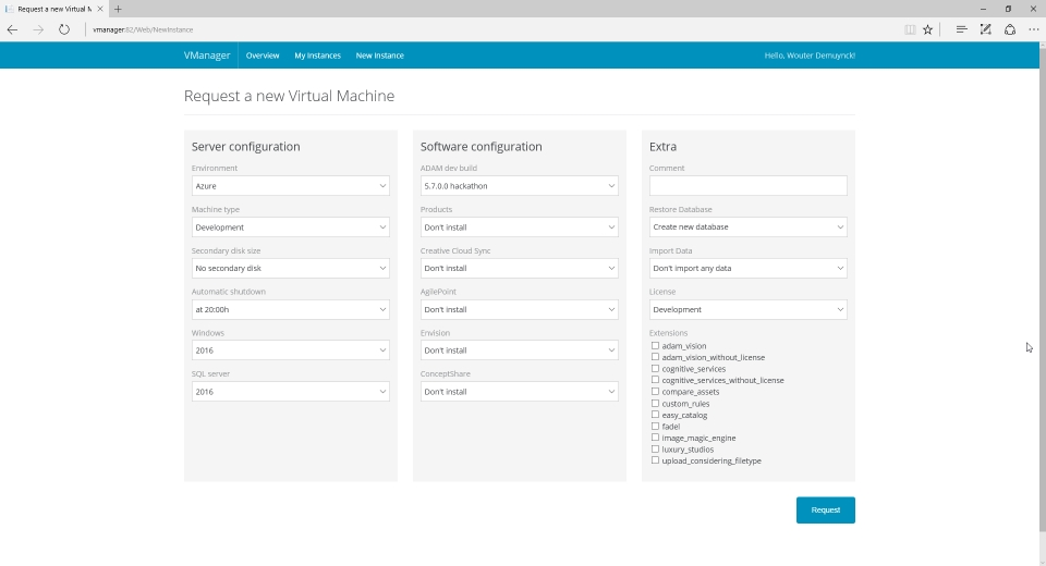 vManager: Web-based provisioning tool