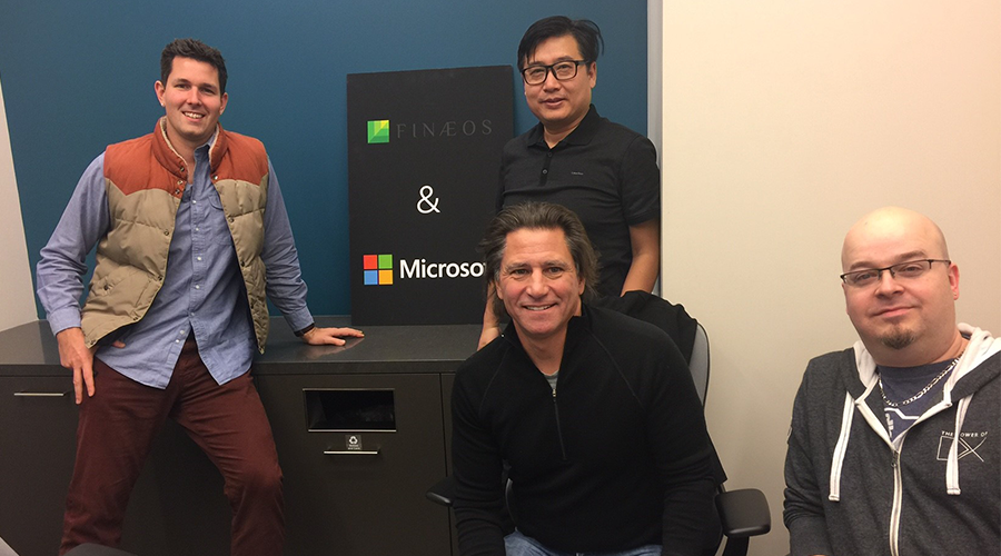Photo of Finaeos and Microsoft dev teams during hackfest