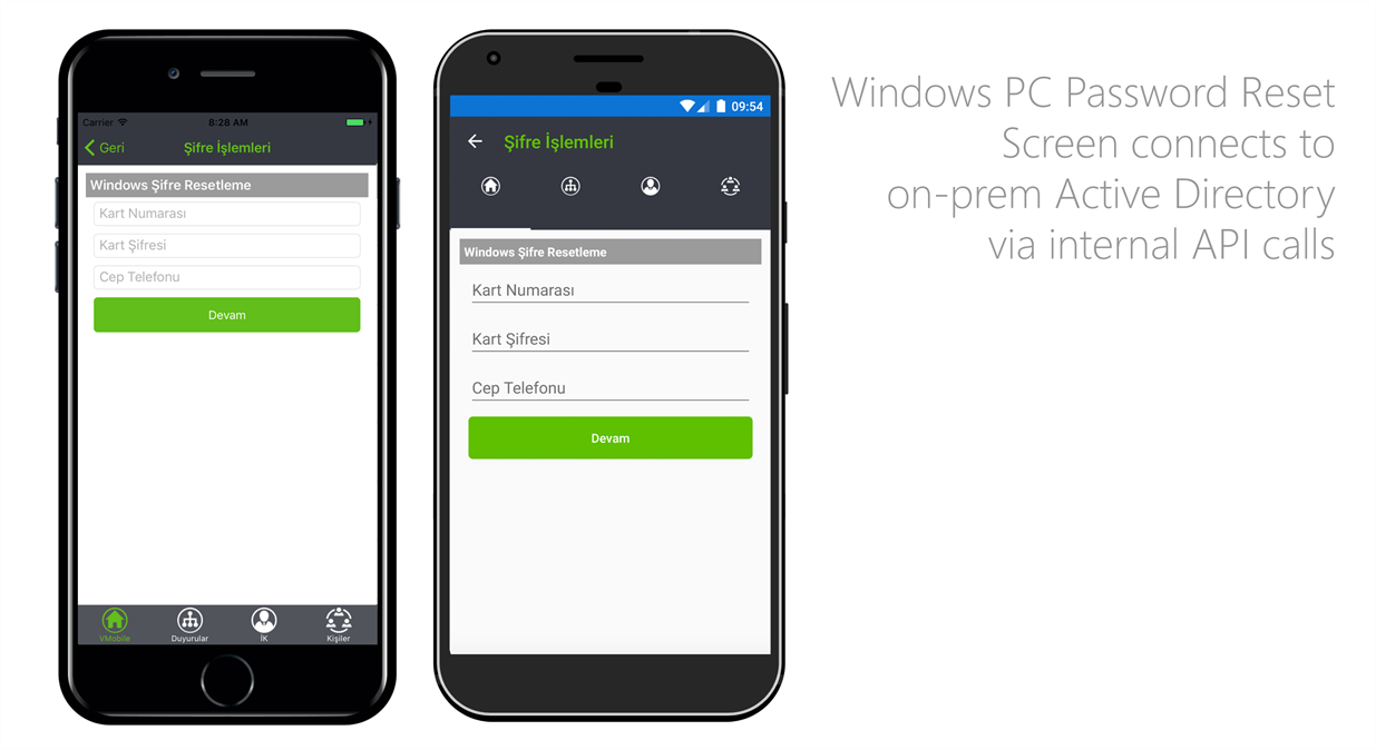 IBTech VMobile Xamarin Mobile Application - Windows PC Password Screen
