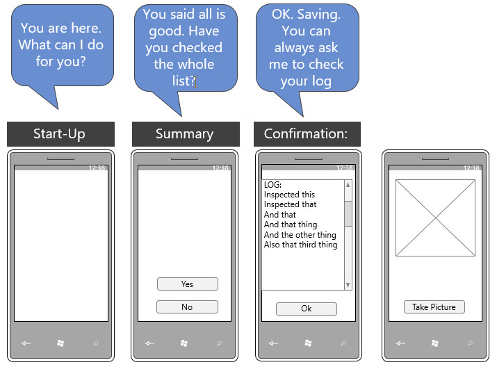 Low-fidelity UI storyboard