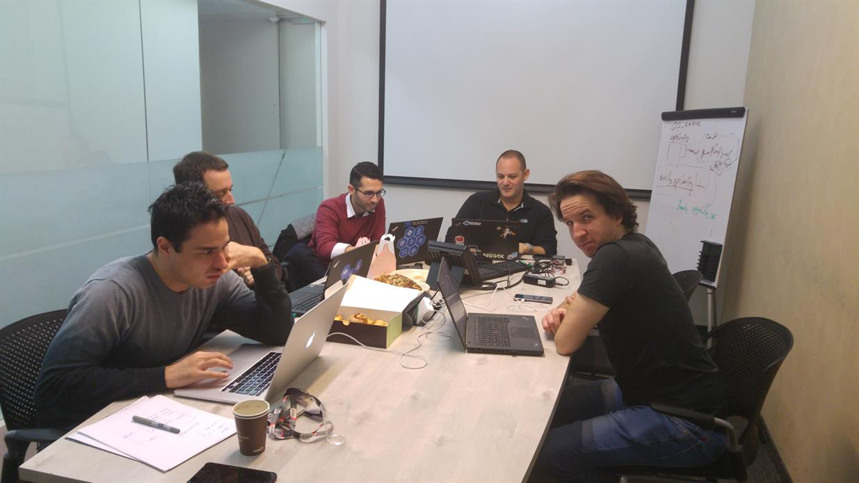 The hack team at work