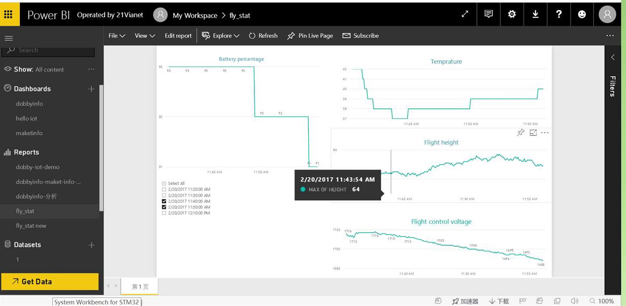 smart drone status in Power BI
